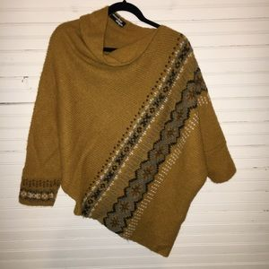 WOODEN SHIPS SIZE M/L KNIT HALF PONCHO/ SWEATER